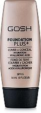 Düfte, Parfümerie und Kosmetik Flüssige Foundation und Concealer 2in1 - Gosh Foundation Plus SPF 15