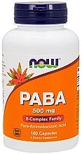Düfte, Parfümerie und Kosmetik Nahrungsergänzungsmittel p-Aminobenzoesäure 50 mg in Kapselform - Now Foods PABA B-Complex Family
