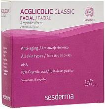 Düfte, Parfümerie und Kosmetik Anti-Aging Gesichtsampullen mit Glykolsäure + AHA 5 St. - SesDerma Acglicolic Classic Ampoules Forte