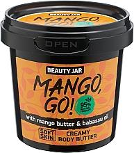 "Düfte, Parfümerie und Kosmetik Körpercreme ""Mango, Go!"" mit Mangobutter und Babassuöl - Beauty Jar Shimmering Creamy Body Butter"