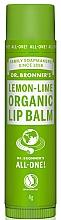 Düfte, Parfümerie und Kosmetik Schutzender, pflegender und feuchtigkeitsspendender Lippenbalsam mit Zitrone und Limette - Dr. Bronner's Lemon & Lime Lip Balm