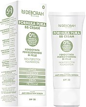 Düfte, Parfümerie und Kosmetik Foundation für perfekt aussehende Haut - Deborah Milano Formula Pura BB Cream 5in1