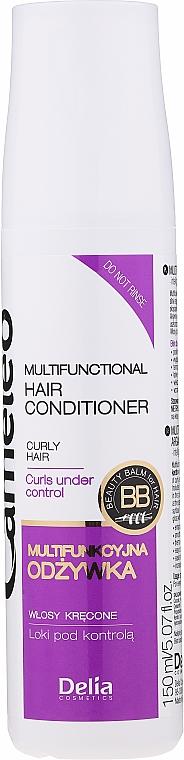Nährender Conditioner für lockiges Haar mit Arganöl - Delia Cameleo Liquid Keratin Curly Hair