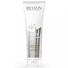 Düfte, Parfümerie und Kosmetik 2in1 Shampoo und Conditioner für weißes & coloriertes Haar - Revlon Professional Revlonissimo 45 Days Stunning Highlights Shampoo & Conditioner