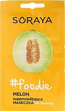 Düfte, Parfümerie und Kosmetik Feuchtigkeitsspenende Gesichtsmaske mit Melone - Soraya Foodie Melon Super-Hydrating Face Mask