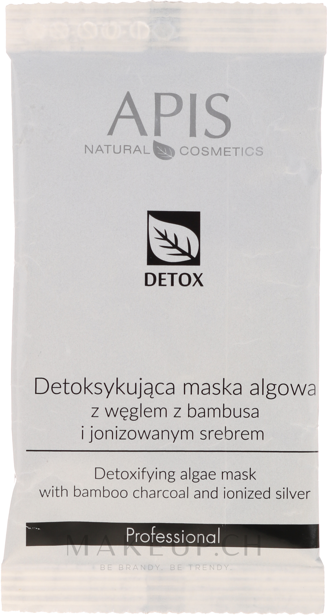 Detox-Gesichtsmaske mit Algen - APIS Professional Detox Mask — Bild 20 g