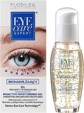 Feuchtigkeitsspendendes Augengel - Floslek Eye Care Bioactive Moisturizing Gel Under Eyes And Around Mouth Area
