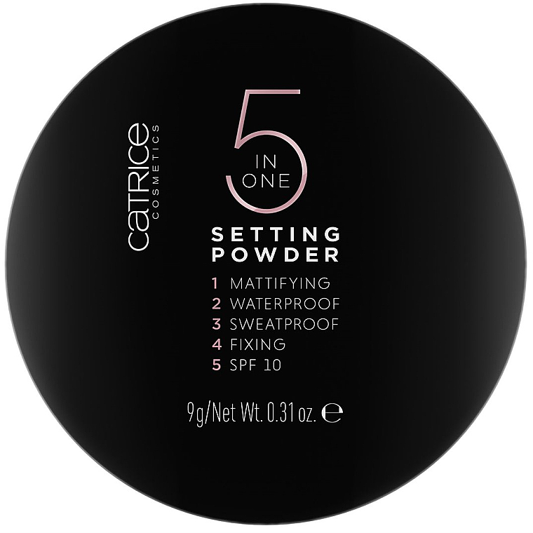 5in1 Farbloses Puder mit LSF 20 - Catrice 5 in 1 Setting Powder