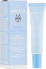 Düfte, Parfümerie und Kosmetik Feuchtigkeitsspendendes und kühlendes Augengel mit Blütenextrakt und Honig - Apivita Aqua Beelicious Cooling Hydrating Eye Gel