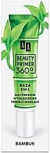 Düfte, Parfümerie und Kosmetik 3in1 Mattierender und glättender Primer mit Bambusextrakt - AA Beauty Primer 360 Bamboo 3in1