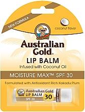 Düfte, Parfümerie und Kosmetik Lippenbalsam mit Kokosnussöl SPF 30 - Australian Gold Lip Balm Infused With Coconut Oil SPF 30