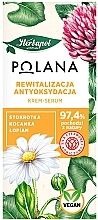 Düfte, Parfümerie und Kosmetik Revitalisierendes und antioxidatives Creme-Serum für das Gesicht mit Gänseblümchen, Strohblume und Klette - Polana