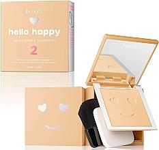 Düfte, Parfümerie und Kosmetik Puder-Foundation - Benefit Hello Happy Velvet Powder Foundation