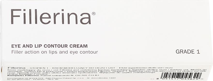 Augen- und Lippenkonturcreme Klasse 1 - Fillerina Eye And Lip Contour Cream Grade 1