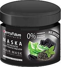 Düfte, Parfümerie und Kosmetik Pflegende und regenerierende Haarmaske mit Aktivkohle - DermoFuture Hair Mask With Activated Carbon