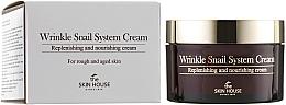 Düfte, Parfümerie und Kosmetik Nährende Anti-Falten Gesichtscreme mit Schneckenschleimfiltrat - The Skin House Wrinkle Snail System Cream