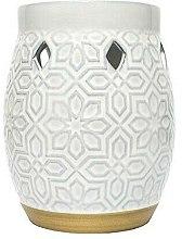 Düfte, Parfümerie und Kosmetik Aromalampe - Yankee Candle Wax Burner Addison Patterned Ceramic