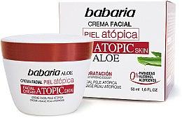 Düfte, Parfümerie und Kosmetik Extra feuchtigkeitsspendende Gesichtscreme für atopische Haut mit Aloe Vera - Babaria Atopic Face Cream