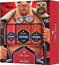 Düfte, Parfümerie und Kosmetik Körperpflegeset - Old Spice Capitain Aviator (Deodorant 150ml + After Shave Lotion 100ml + 2in1 Duschgel und Shampoo 50ml)