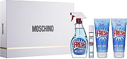 Düfte, Parfümerie und Kosmetik Moschino Fresh Couture - Duftset (Eau de Toilette/100ml + Mini/10ml + Körperlotion/100ml + Duschgel/100ml)