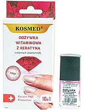 Düfte, Parfümerie und Kosmetik Nagellack mit Keratin - Kosmed Colagen Nail Protection 10in1