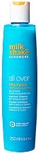 Düfte, Parfümerie und Kosmetik 2in1 Feuchtigkeitsspendendes Shampoo für Haare und Körper mit tropischem Duft - Milk Shake Sun&More All Over Shampoo
