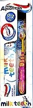 Düfte, Parfümerie und Kosmetik Mundpflegeset für Kinder - Aquafresh Milk Teeth (Zahnpasta 50 ml + Rosa Zahnbürste 0-2 Jahre 1 St.)