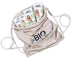 Düfte, Parfümerie und Kosmetik Körperpflegeset mit Bambus und Zitronengras in einem Öko-Rucksack - BeBio Bamboo And Lemongrass (Duschgel 200ml + Körperlotion 200ml + Handcreme 75ml + Deo Roll-on 50ml)