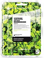 Düfte, Parfümerie und Kosmetik Beruhigende Tuchmaske mit grünem Tee - Farmskin Superfood For Skin Soothing Sheet Mask