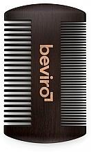 Düfte, Parfümerie und Kosmetik Bartkamm - Beviro Pear Wood Beard Comb