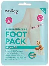 Düfte, Parfümerie und Kosmetik Tief feuchtigkeitsspendende und aufweichende Fußmaske in Socken mit Arganöl und Vitamin E - Derma V10 Foot Mask Argan Oil