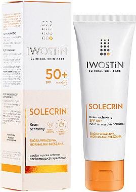 Sonnenschutzcreme für das Gesicht - Iwostin Solecrin Lucidin Protective Cream SPF 50+