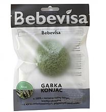 Düfte, Parfümerie und Kosmetik Peelingschwamm für Gesicht mit Konjak-Wurzel und Aloe Vera - Bebevisa Konjac Sponge