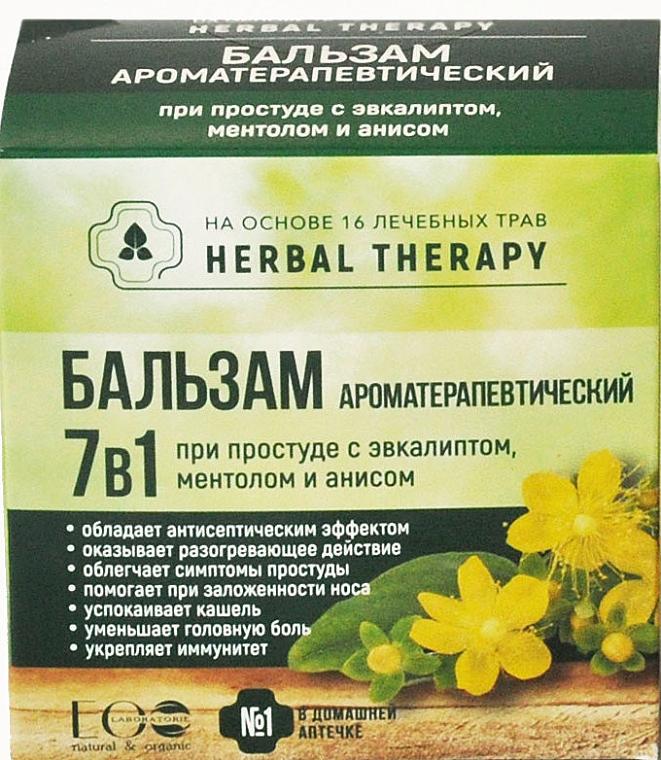 Aromatherapeutischer 7in1 Balsam gegen Erkältung mit Eukalyptus, Menthol und Anis - ECO Laboratorie Herbal Therapy