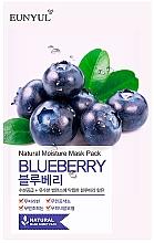 Düfte, Parfümerie und Kosmetik Tuchmaske für das Gesicht mit Blaubeerextrakt - Eunyul Natural Moisture Blueberry Mask