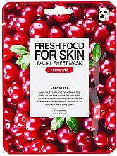 """Düfte, Parfümerie und Kosmetik Glättende Anti-Falten Tuchmaske """"Cranberry"""" für alle Hauttypen - Superfood For Skin Facial Sheet Mask Cranberry Plumping"""