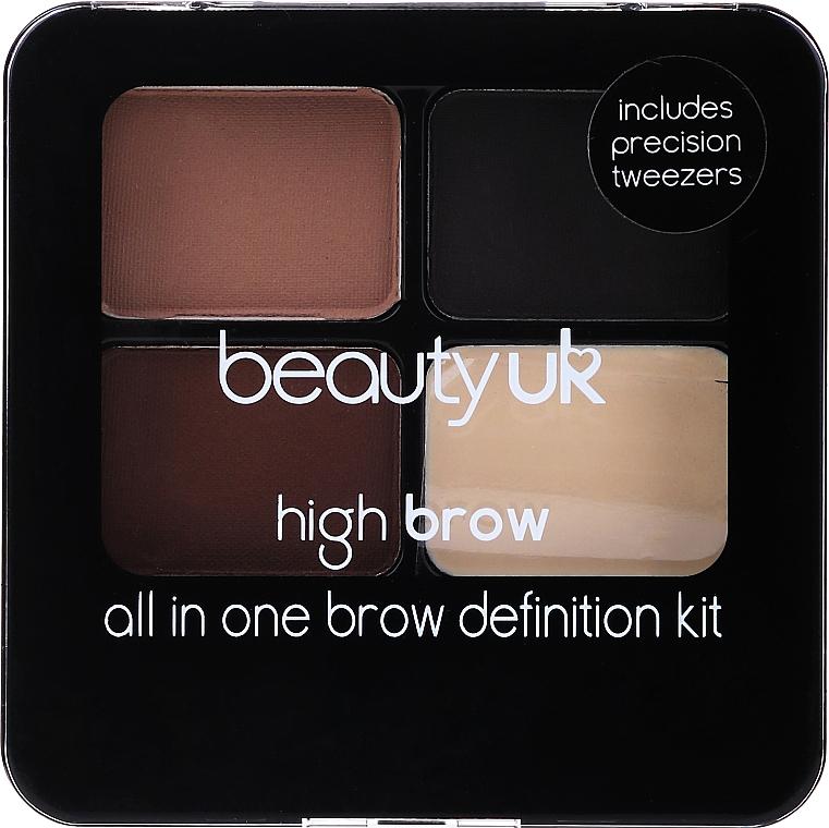 Lidschattenpalette - Beauty UK High Brow and Eyebrow Kit