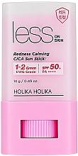Düfte, Parfümerie und Kosmetik Sonnenschutz-Stick LSF 50+ - Holika Holika Less on Skin Redness Calming CICA Sun Stick SPF50+