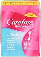 Düfte, Parfümerie und Kosmetik Ultra dünne Slipeinlagen mit Frischeduft 20 St. - Carefree FlexiComfort Fresh Scent