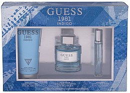 Düfte, Parfümerie und Kosmetik Guess 1981 Indigo for Women - Duftset (Eau de Toilette/100ml + Körperlotion/200 + Eau de Toilette/15ml)