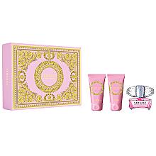Düfte, Parfümerie und Kosmetik Versace Bright Crystal - Duftset (Eau de Toilette 50ml + Körperlotion 50ml + Duschgel 50ml)