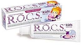 Düfte, Parfümerie und Kosmetik Schützende Kinderzahnpasta gegen Karies mit Kaugummi-Geschmack 4-7 Jahre - R.O.C.S. Kids Bubble Gum Toothpaste