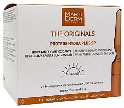 Düfte, Parfümerie und Kosmetik Feuchtigkeitsspendende, antioxidative, straffende und aufhellende Gesichtsampullen mit UV-Schutz - MartiDerm The Originals Proteos Hydra Plus SP