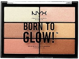 Düfte, Parfümerie und Kosmetik Highlighter-Palette - NYX Professional Makeup Professional Born to Glow Highlighting Palette