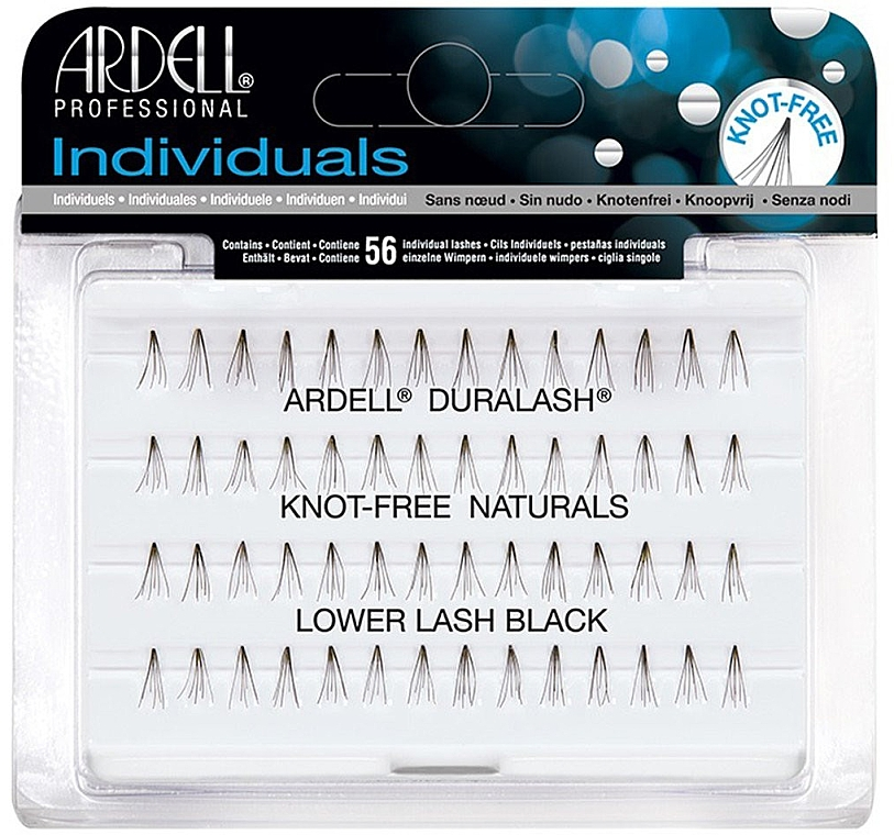 Wimpernbüschel-Set - Ardell Eyelash Knot Free Lower Lash Individuals Black