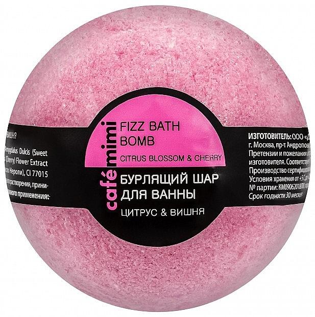 Badebombe Zitrusblüte & Kirsche - Cafe Mimi Bubble Ball Bath