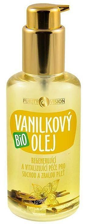 Regenerierendes und revitalisierendes Bio Vanilleöl für trockene und reife Haut - Purity Vision Bio