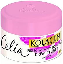Düfte, Parfümerie und Kosmetik Anti-Falten Gesichtscreme mit Kollagen und Vitamin A und E für trockene Haut - Celia Collagen Cream