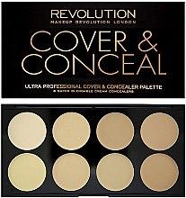 Düfte, Parfümerie und Kosmetik Gesichts-Concealer - Makeup Revolution Ultra Cover and Conceal Palette