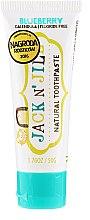 Düfte, Parfümerie und Kosmetik Natürliche Zahnpasta mit Heidelbeergeschmack - Jack N' Jill Natural Toothpaste Blueberry